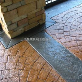 压花混凝土地坪/艺术压模地坪施工模具/彩色地坪