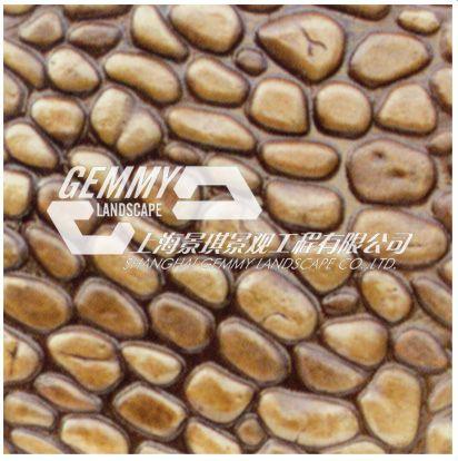 混凝土仿鹅卵石压印地坪