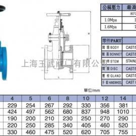 台湾富山阀门 软密封暗杆闸阀 FS051S软密封闸阀