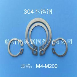 304不锈钢轴用挡圈轴用卡簧GB894.1