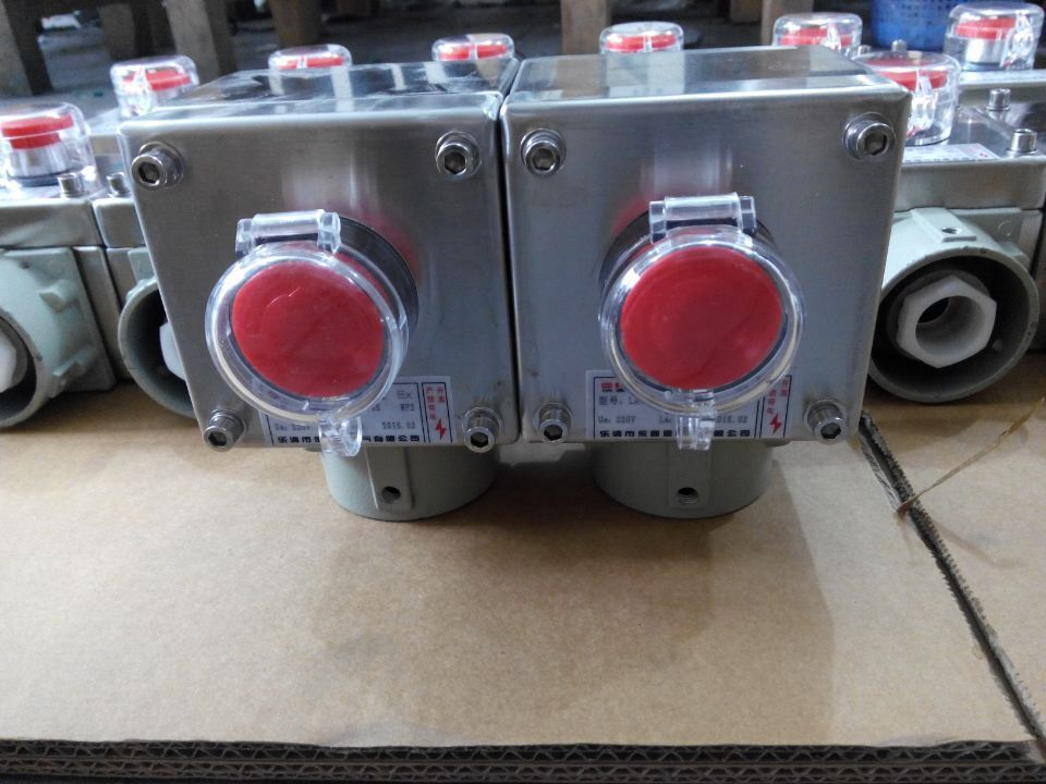 304不锈钢LA10-15急停按钮盒(立式)