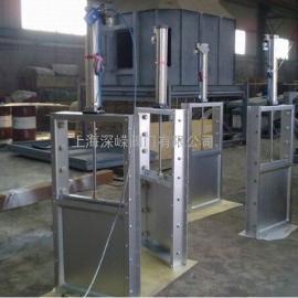 电动钢制渠道闸门 手动渠道闸板阀 电动插板闸门