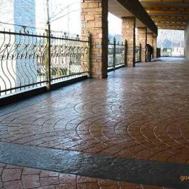 彩色地坪压模地坪首选上海翼石专业效率