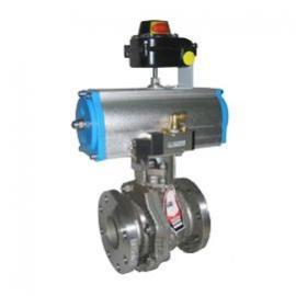 Q641气动球阀(双作用气缸)