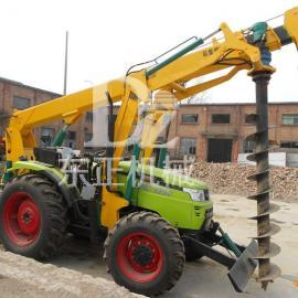 拖拉机挖坑机,种树挖坑机,大型挖坑机,电线杆挖坑机