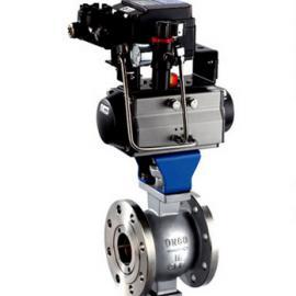 专业生产气动V型活塞式调节球阀-阿斯塔阀门