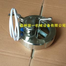 温州产不锈钢一体式罐顶活接视镜(带灯 带刮板)