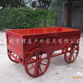 塑木花车、户外塑木售卖车、户外塑木售货车