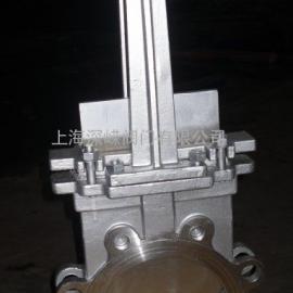 不锈钢气动梅花刀形闸阀PZ673W
