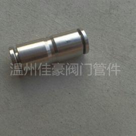 低价供应不锈钢气动快插中间接头 PU管快速快插接头