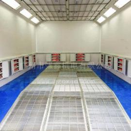 广州市强鑫实用经济型环保汽车烤漆房,高性价比包安装一年保修