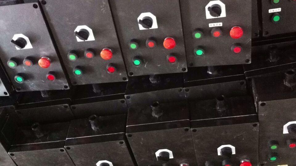 3灯2钮1转换1频率表1电位器防爆防腐操作柱
