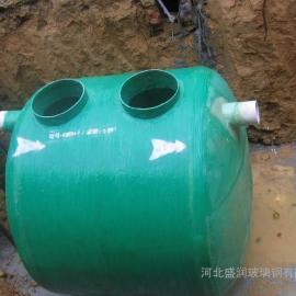 缠绕玻璃钢化粪池 1-120立方玻璃钢化粪池 污水处理设备