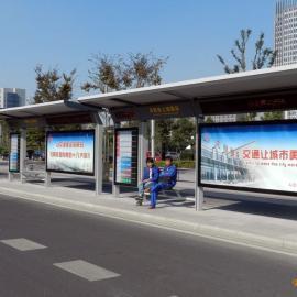武威公交候车亭制作全市*低价,兰州不锈钢候车亭指定品牌!