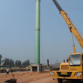 脱硫塔玻璃钢烟囱 除尘器玻璃钢烟囱 锅炉用高温玻璃钢烟囱