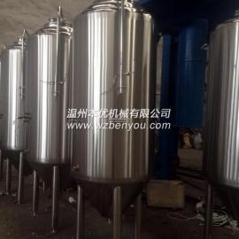 温州本优啤酒发酵罐 酿酒设备 不锈钢发酵罐 发酵罐
