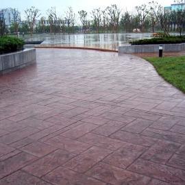 水泥压模地坪/压花混凝土路面/仿木工艺木纹地面材料