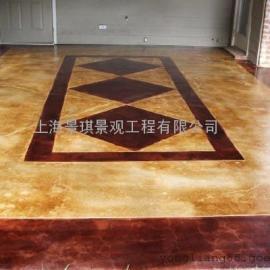 萍乡景观艺术压模地坪|上栗水泥压花地坪|安源鹅卵石压印地坪