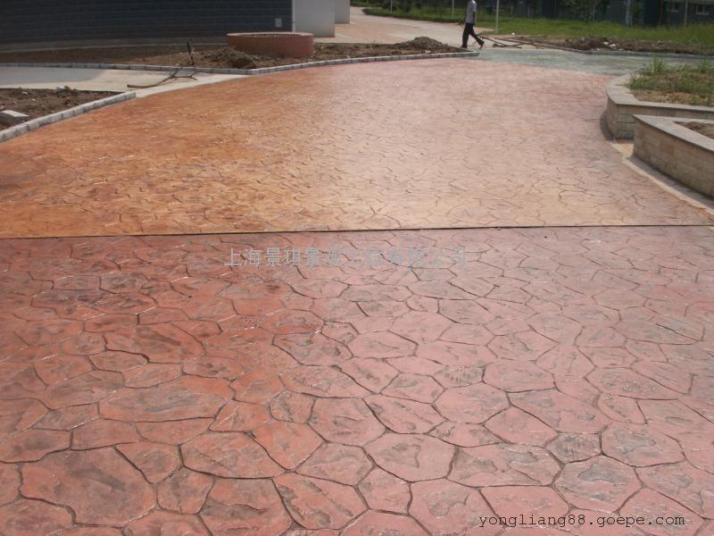 景德镇混凝土仿木纹地坪|昌江彩色透水地坪|珠山景观