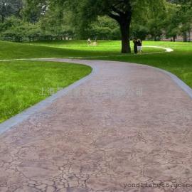 龙岩不褪色压花地坪|永定水泥压模地坪|上杭仿石地面铺装材料