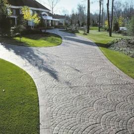 南平耐磨压花地坪材料|松溪彩色水泥压模地坪|政和仿石地面