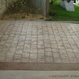 漳州彩色混凝土路面|东山防滑压模地坪|南靖压花水泥铺地材料