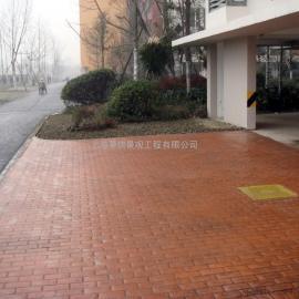 厦门彩色压花路面|思明园林仿木纹地坪|海沧压模地坪施工材料