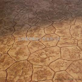 火车站压模地坪/仿石混凝土路面装饰材料/艺术压印路面