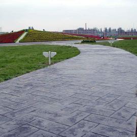 福州水泥压花地坪|鼓楼彩色混凝土路面|台江硬化压模地坪材料