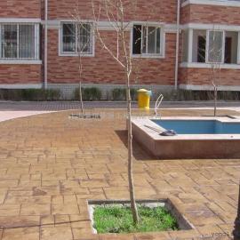 福州仿石压印地坪|连江压模混凝土|罗源彩色水泥压花地坪材料