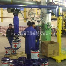 真空吸盘25KG油漆桶搬运、瑞典TAWI气管吸盘吊具