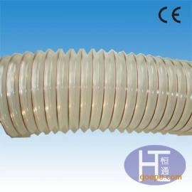 400水泥厂专用PU管 陶瓷粉尘吸排软管 镀铜钢丝软管