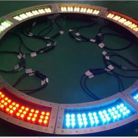 弧形36W大功率全彩LED广场地埋灯