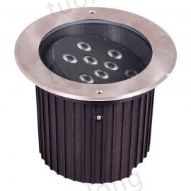 拓龙新款9*2W可调角度LED地埋灯