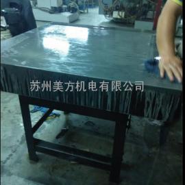 大理石平台研磨维修 人工研磨大理石平台 精度修复现场验收