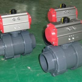 DN200快装式JR30气动塑料球阀DN200