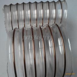 经销批发PU钢丝螺旋伸缩管(通风除尘管),可加工定制PU钢丝螺旋