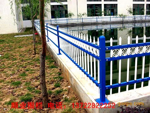 幼儿园围墙护栏,学校护栏,工厂围墙栏杆