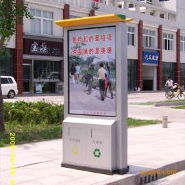 户外木条垃圾桶广告垃圾桶带滚动系统