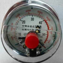 YNXC-100ZT轴向带前边耐震电接点压力表