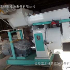 青岛厂家直销可强制喂料生物质饲料颗粒机/高效节能环模颗粒机