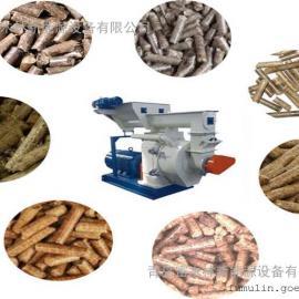 生物质木屑颗粒燃料成型设备/树枝树杈削片破碎制粒机生产线
