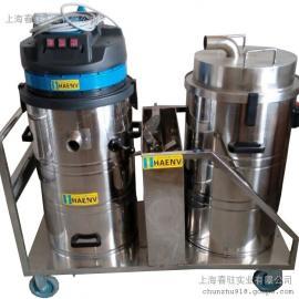 大量灰尘专用双桶吸尘器,吸水泥粉工业吸尘器,超细铁屑吸尘器
