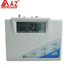 台湾衡欣 AZ86505台式水质分析仪 PH计 水参数综合测试仪