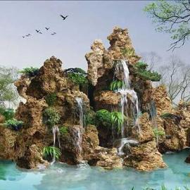河南火山爆发奇想喷泉设计施工郑州园林绿化公司