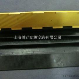 橡胶线槽板五线槽减速带 过线板桥槽护线电线槽交通设施产品
