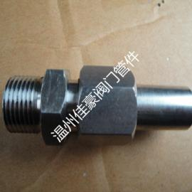 不绣钢聚四氟密封焊接管接头,外螺纹直通管接,液压焊接接头