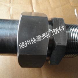 国标JB/T966焊接管接头,不绣钢外螺纹焊接直通管接
