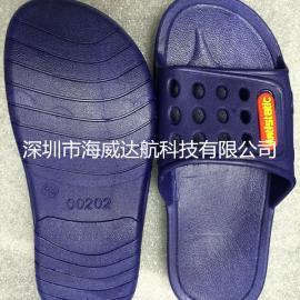 透气性强带孔防静电拖鞋