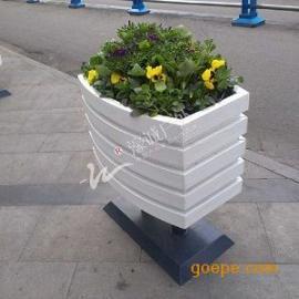 供应园林园艺白色塑木花箱
